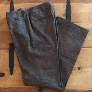 Rafaella Womens Brown Straight Leg Dress Pants
